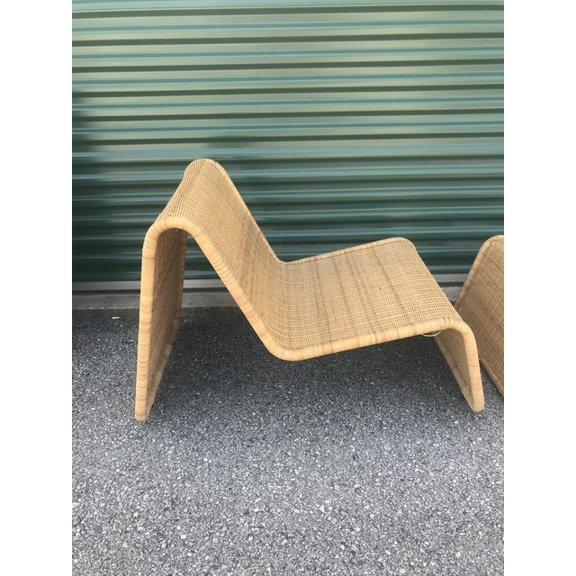 Tito Agnoli P3 Wicker Lounge Chair For Sale - Image 9 of 10
