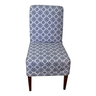 Blue and White Dining Chair For Sale
