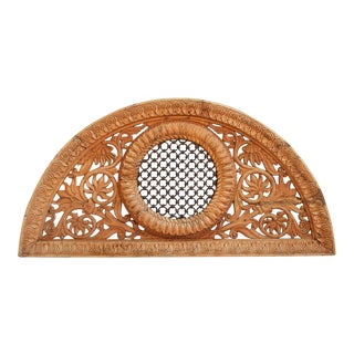 Hand Carved Wood Transom For Sale