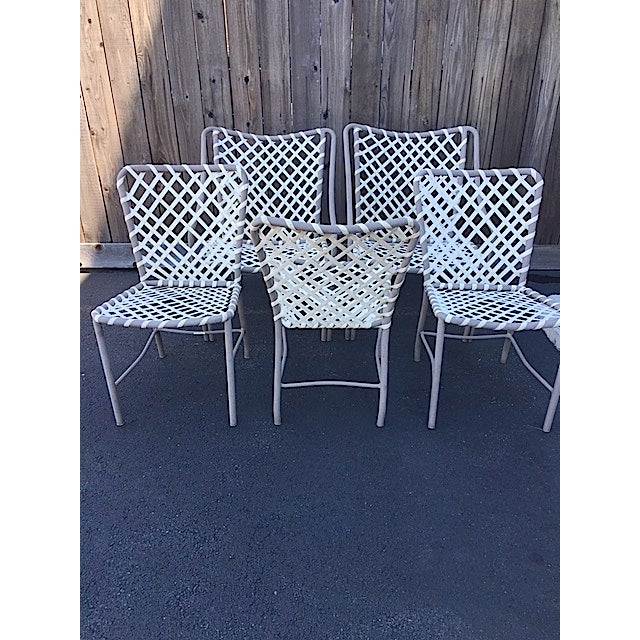 Vintage Brown Jordan Patio Chairs - Set of 5 For Sale - Image 7 of 8