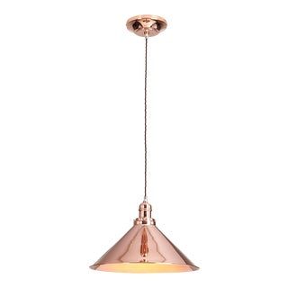 Provence Pendant in Polished Copper For Sale