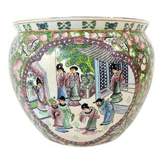 "Vintage ""Rose Mandarin"" Figurative Goldfish Bowl / Planter For Sale"