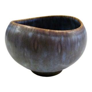 1950s Mid-Century Modern Gunnard Nylund Hares Furs Glazed Vase For Sale