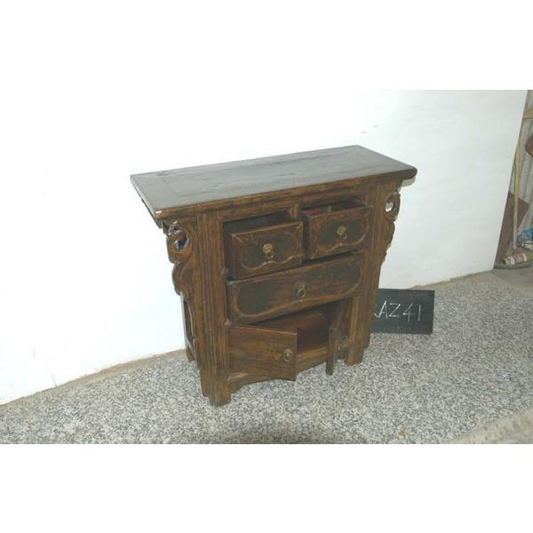 Rustic 1900s Rustic Natural Console Chest For Sale - Image 3 of 3