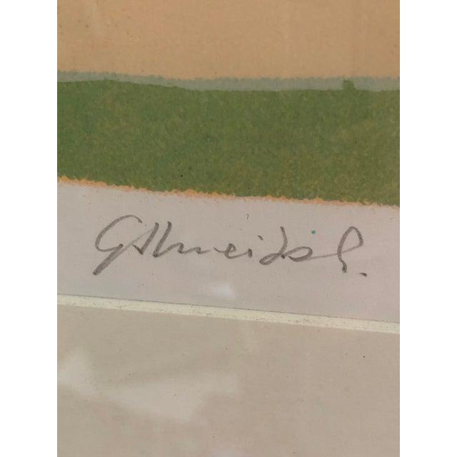 Vintage Mid-Century Signed Gilberto Almeida Print For Sale - Image 4 of 7