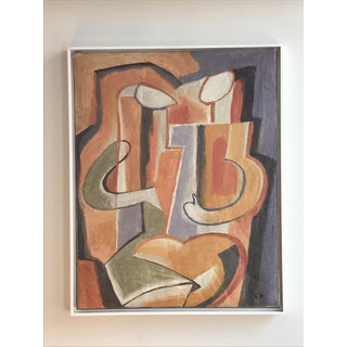 """20th Century Abstract """"Two Figures"""" Oil on Canvas Painting by Maurice Cloud Preview"""