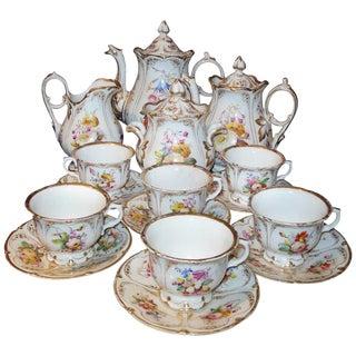 Old Paris Tea Set Rococo Style For Sale