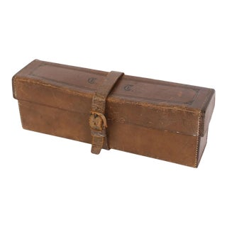 Antique French Leather Box For Sale