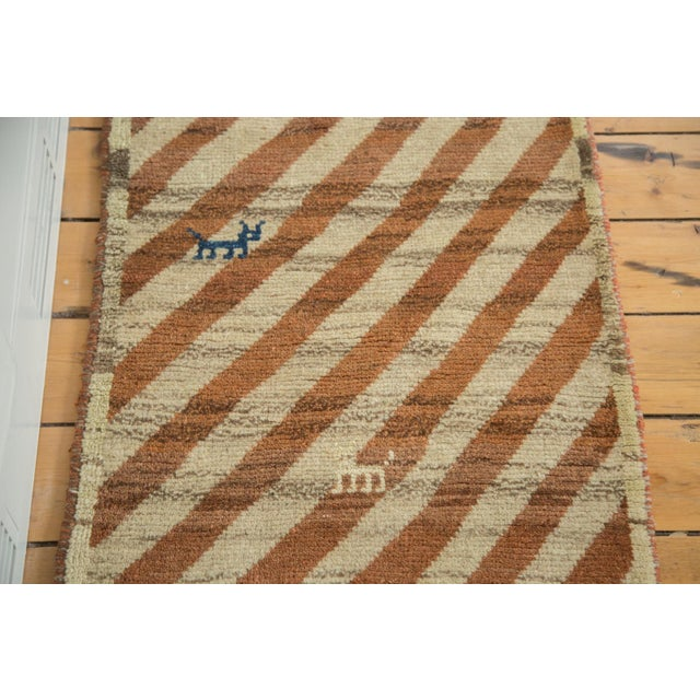 "Country Vintage Gabbeh Rug Runner - 2'1"" X 6'9"" For Sale - Image 3 of 6"
