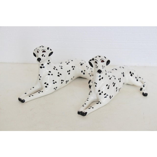 Italian Porcelain Dalmatian Figurines - A Pair - Image 2 of 6