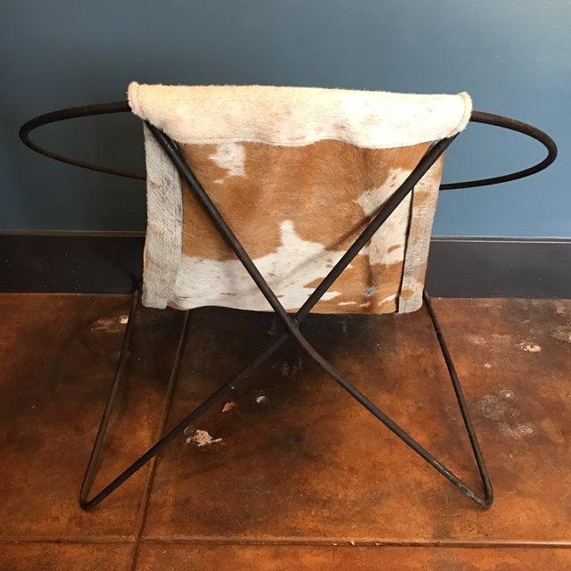 Mid-Century Cowhide Sling Hoop Chairs - Image 6 of 10