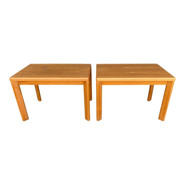 Mid Century Danish Modern Teak Side Tables by Vejle Stole - a Pair For Sale