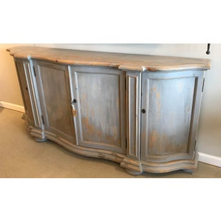 Transitional Washed Blue Briquette Sideboard Preview
