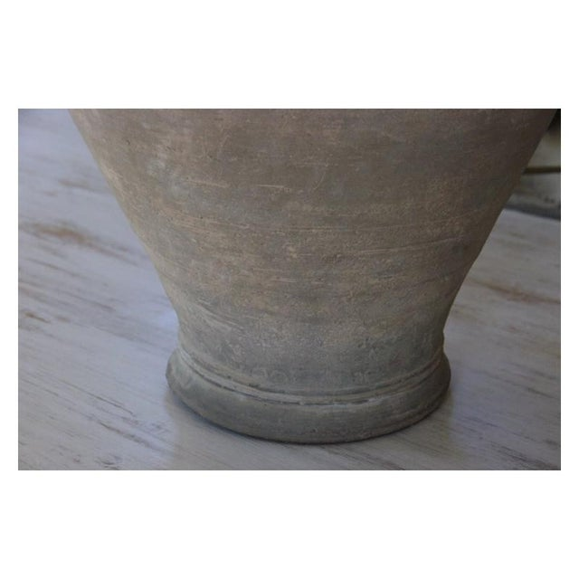 Large Unglazed Khmer Vase as Table Lamp For Sale - Image 9 of 12