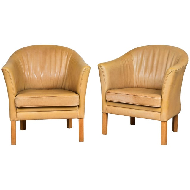 Vintage Leather Occasional Chairs (Pair Available) For Sale - Image 10 of 11