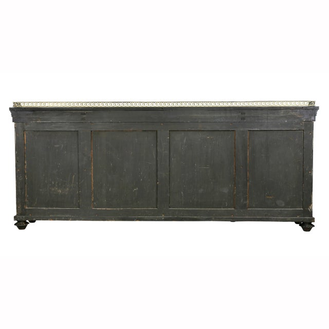 Regency Rosewood, Ebonized and Bronze Mounted Credenza or Cabinet For Sale - Image 11 of 13