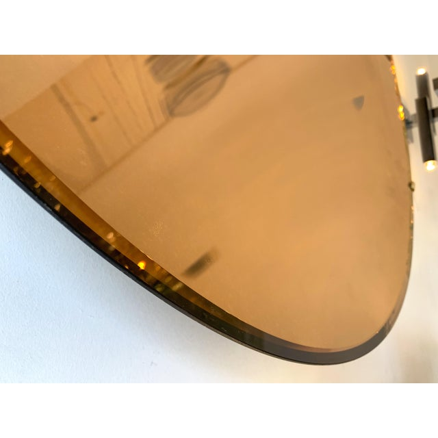 Italian Contemporary Curve Convex Mirror For Sale - Image 4 of 11