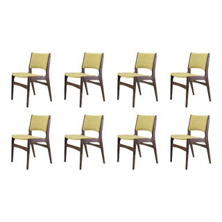 Mid Century Set of Eight Refinished Erik Buch Dining Chairs- A Pair For Sale