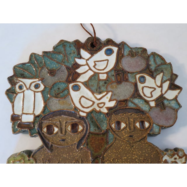 Vintage Ceramic Wall Plaque by St. Andrew's Priory Pottery For Sale - Image 5 of 7