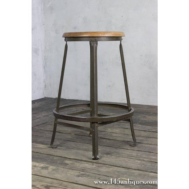 American 1930s Factory Stool - Image 3 of 8