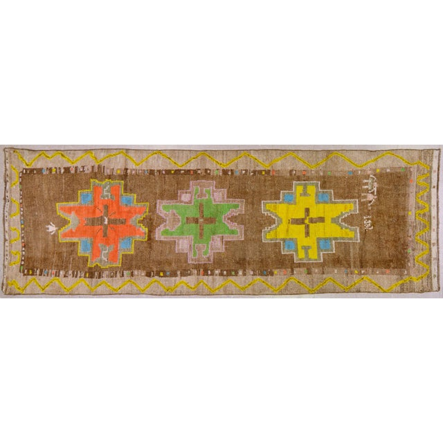 "Vintage Kurdish Tribal Rug,3'8""x10'5"" For Sale In New York - Image 6 of 6"