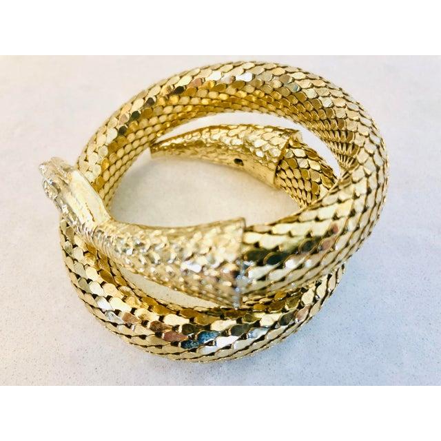 Gold Whiting & Davis Gold Mesh Snake Bracelet For Sale - Image 7 of 9