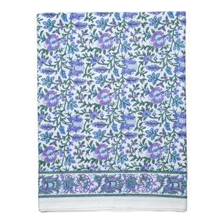 Aria Flat Sheet, Twin - Lavender & Blue For Sale