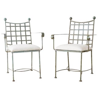 Pair of Mario Papperzini for Salterini Style Garden Chairs For Sale