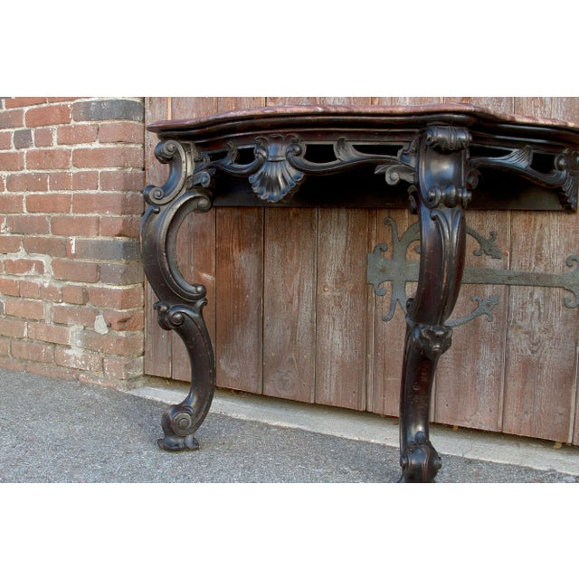 1900 - 1909 Ebonized Anglo Indian Console Table, Pair For Sale - Image 5 of 10