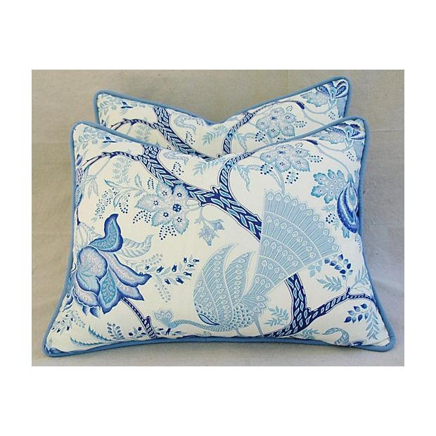 Designer Stroheim Jaidee Blue/White Pillows - Pair - Image 2 of 8