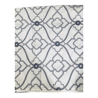 Kravet White Meets Gray Patterned Fabric - 3.5 Yards