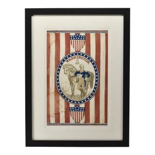 Antique George Washington 1876 Centennial Textile Art For Sale
