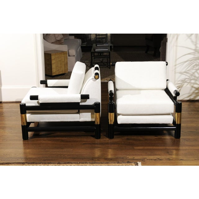 Breathtaking Pair of Modern Floating Pagoda Club Chairs by Baker, Circa 1980 For Sale In Atlanta - Image 6 of 13