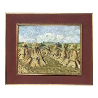 Antique Framed Oil Painting on Canvas by L. Vanvalsem For Sale