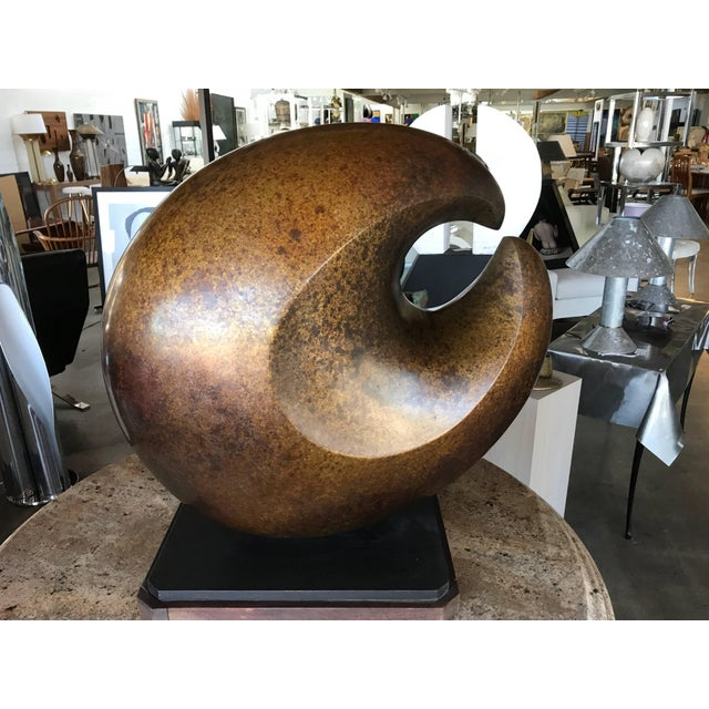 "Bronze Jeff Day Abstract 1970s Bronze ""Byte"" For Sale - Image 7 of 10"