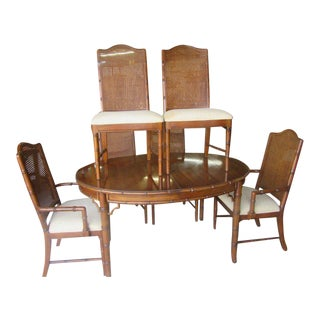 Dixie Faux Bamboo Dining Set