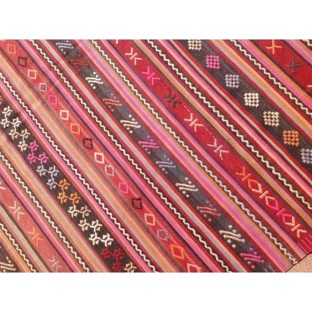 Vintage Turkish Kilim Rug - 5′12″ × 8′3″ - Image 6 of 7