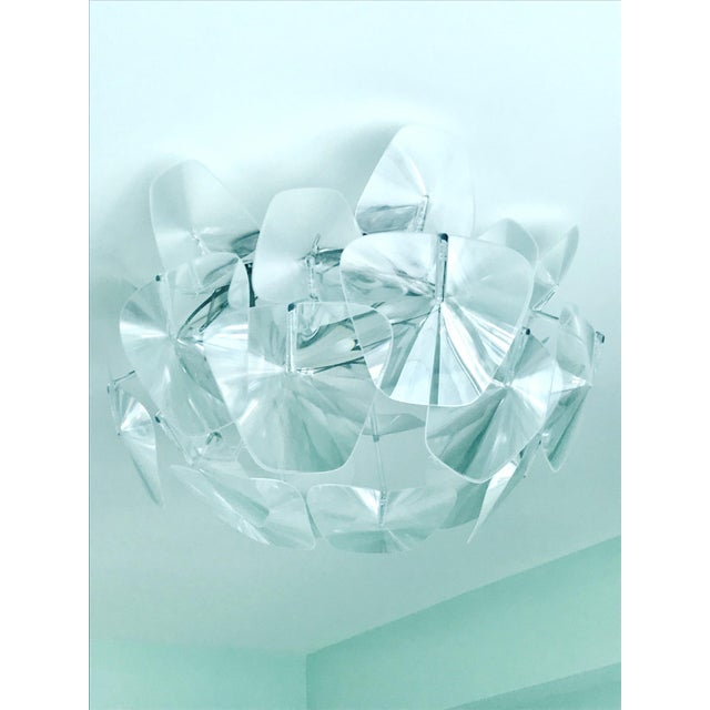 Transparent Hope Modernist Ceiling Light With Reflective Prisms by Luceplan, Italy 2018 For Sale - Image 8 of 13
