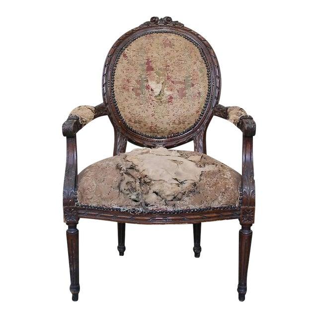 Louis XVI Style Armchair - Image 1 of 9