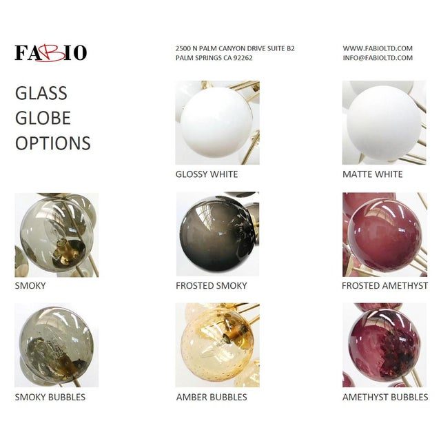 Art Glass Diciotto Sputnik Chandelier by Fabio Ltd For Sale - Image 7 of 9
