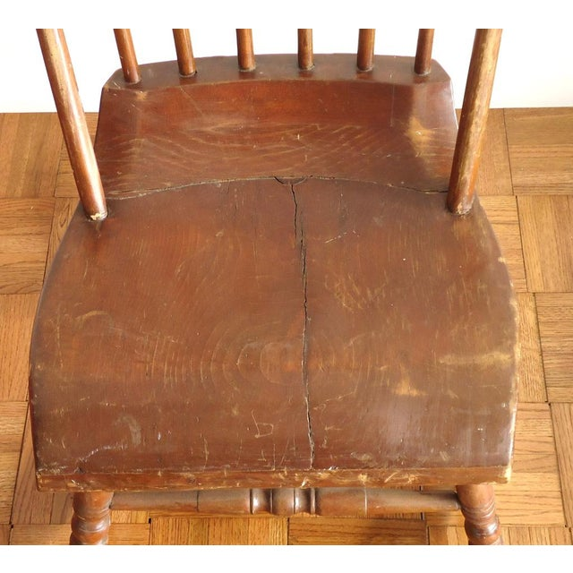 Early American Antique Primitive Rocking Chair For Sale - Image 3 of 8