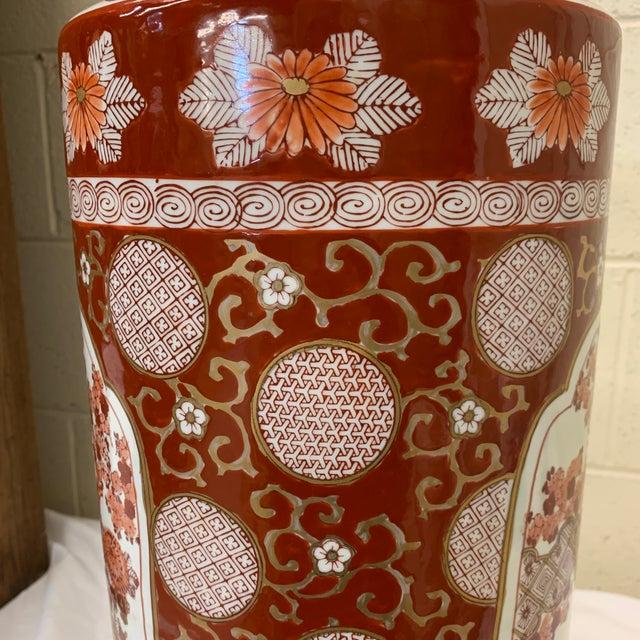 Vintage Gold Imari Umbrella Stand Vase For Sale - Image 9 of 11