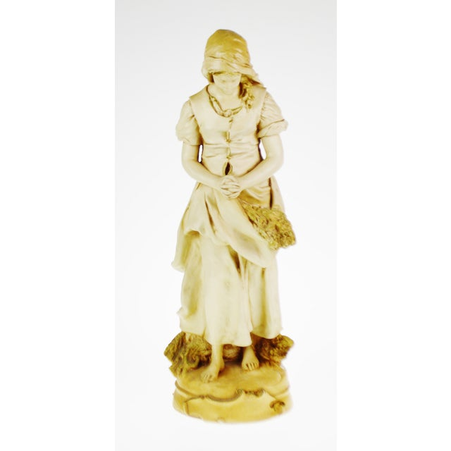 Vintage L'Angelus Chalkware Statue by Marwal Ind. Inc. Condition consistent with age and history. Please use zoom feature...