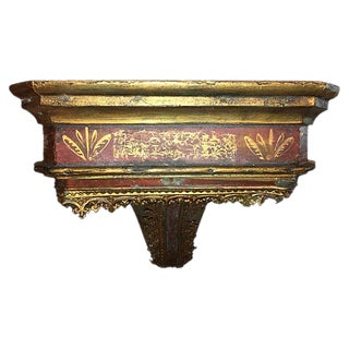 19th Century Italian Painted and Parcel Gilt Wall Console For Sale