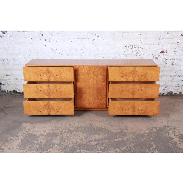 1970s Burl Wood Credenza by Lane Furniture For Sale - Image 5 of 13