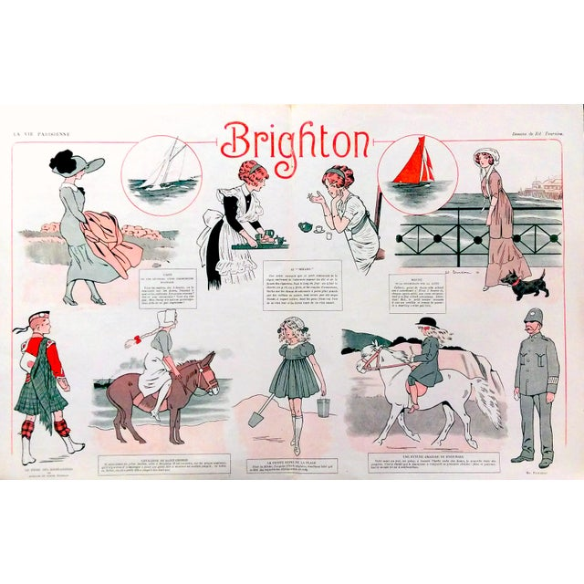 "1910 La Vie Parisienne ""Brighton Beach"" Print - Image 1 of 7"