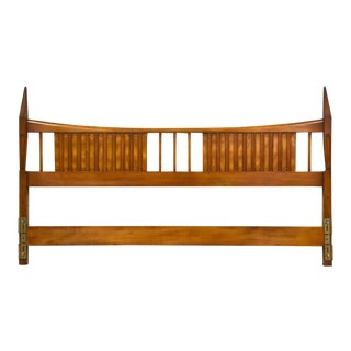 John Widdicomb King Mid Century Modern Walnut Headboard For Sale
