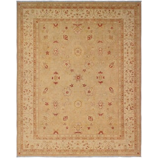 Kafkaz Sun-Faded Augustin Tan/Ivory Hand-Knotted Rug - 8'7 X 10'11