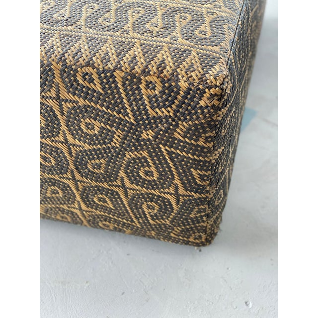 Boho Chic Borneo Mat Coffee Table For Sale - Image 4 of 9
