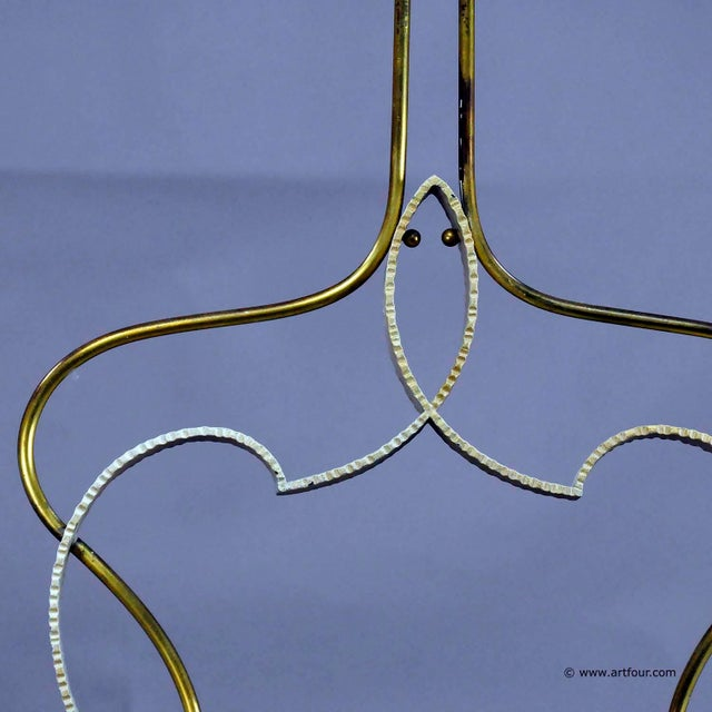 Mid 20th Century A Vintage Italian Brass And Glass Pendant By Fontana Arte (attr.) For Sale - Image 5 of 10